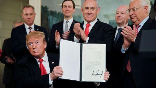 Trump Bibi Golan